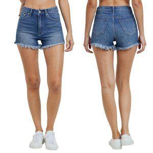 NWT Just USA High Rise Frayed Hem Shorts